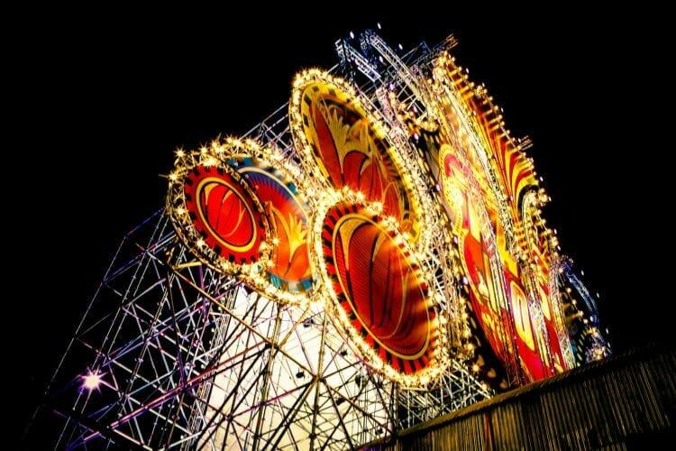 Festival Paaspop in het donker gemaakt door De Festivalfotograaf uit Den Bosch ('s-Hertogenbosch) en omgeving.
