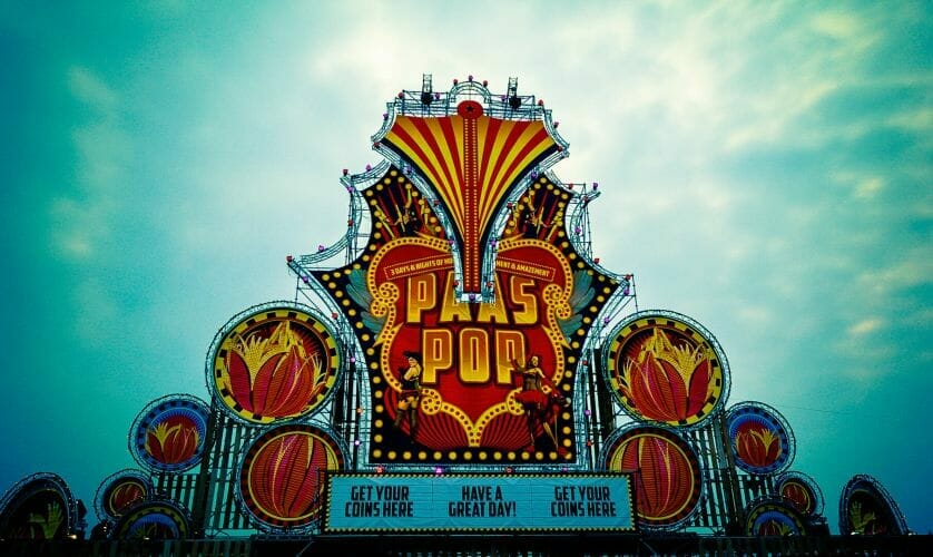 Facade op Festival Paaspop gemaakt door De Festivalfotograaf uit Den Bosch ('s-Hertogenbosch) en omgeving.