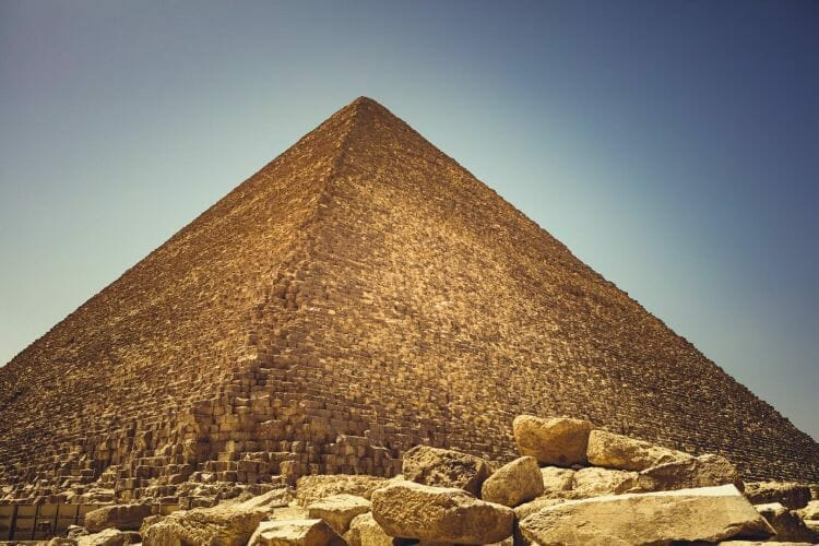 De grote Piramide in Gizeh