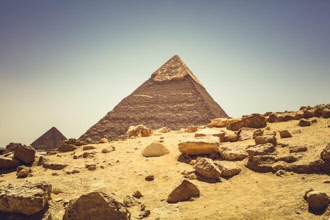 De Piramides in Gizeh